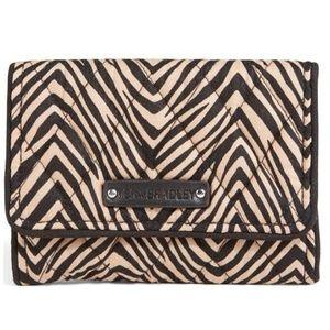 Vera Bradley Petite Trifold Wallet, Zebra